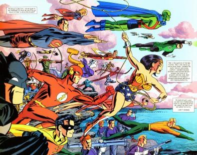 היי, תראו, זה היקום של DC! ופריזמת הצבעים שבו לא נעה בין שחור, אפור וכחול ממש כהה!